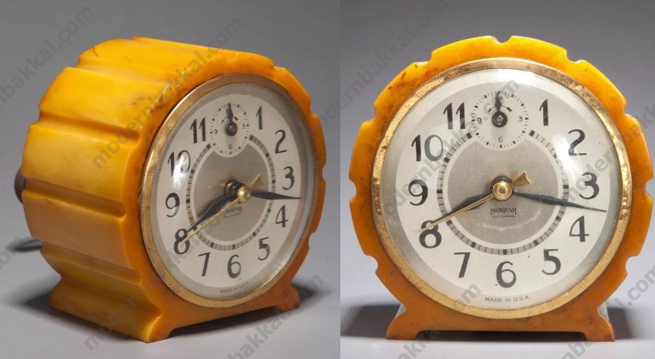 Eski Amerikan Katalin Saat Kasası / Old American Catalin Hour Stand