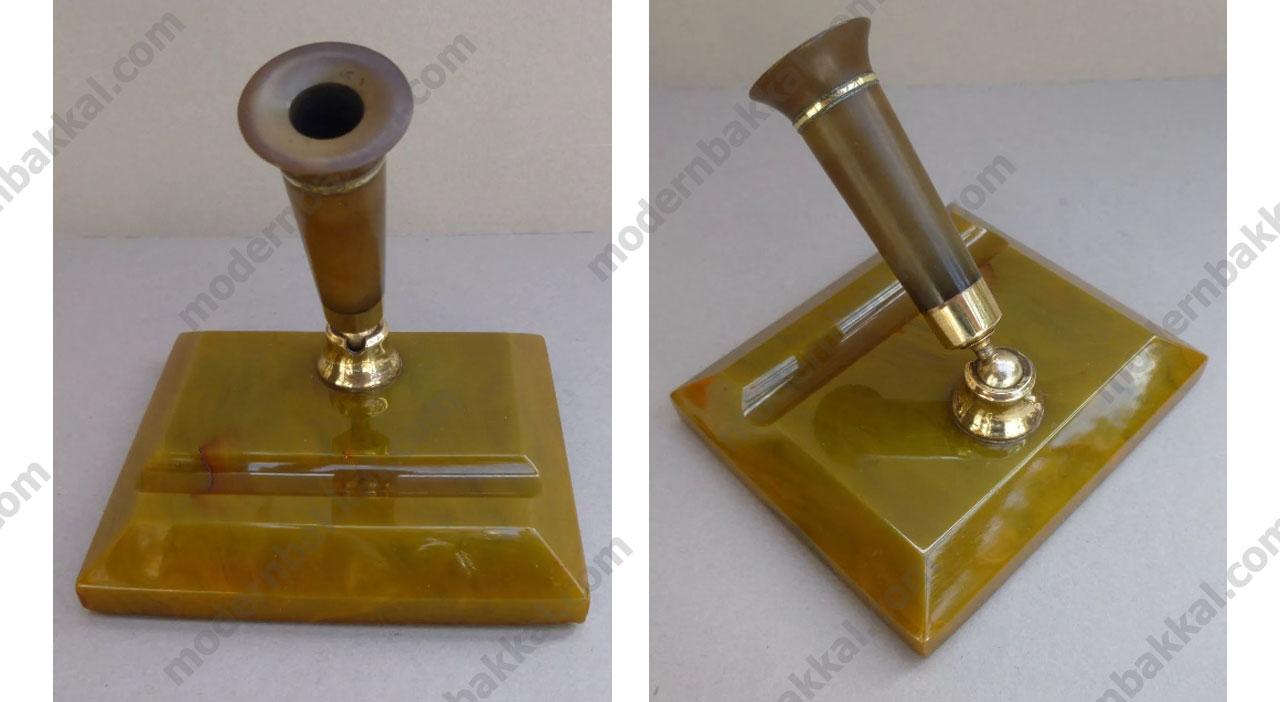 Eski Alman Katalin Kalemlik Obje / Old German Catalin Pencil Case Object