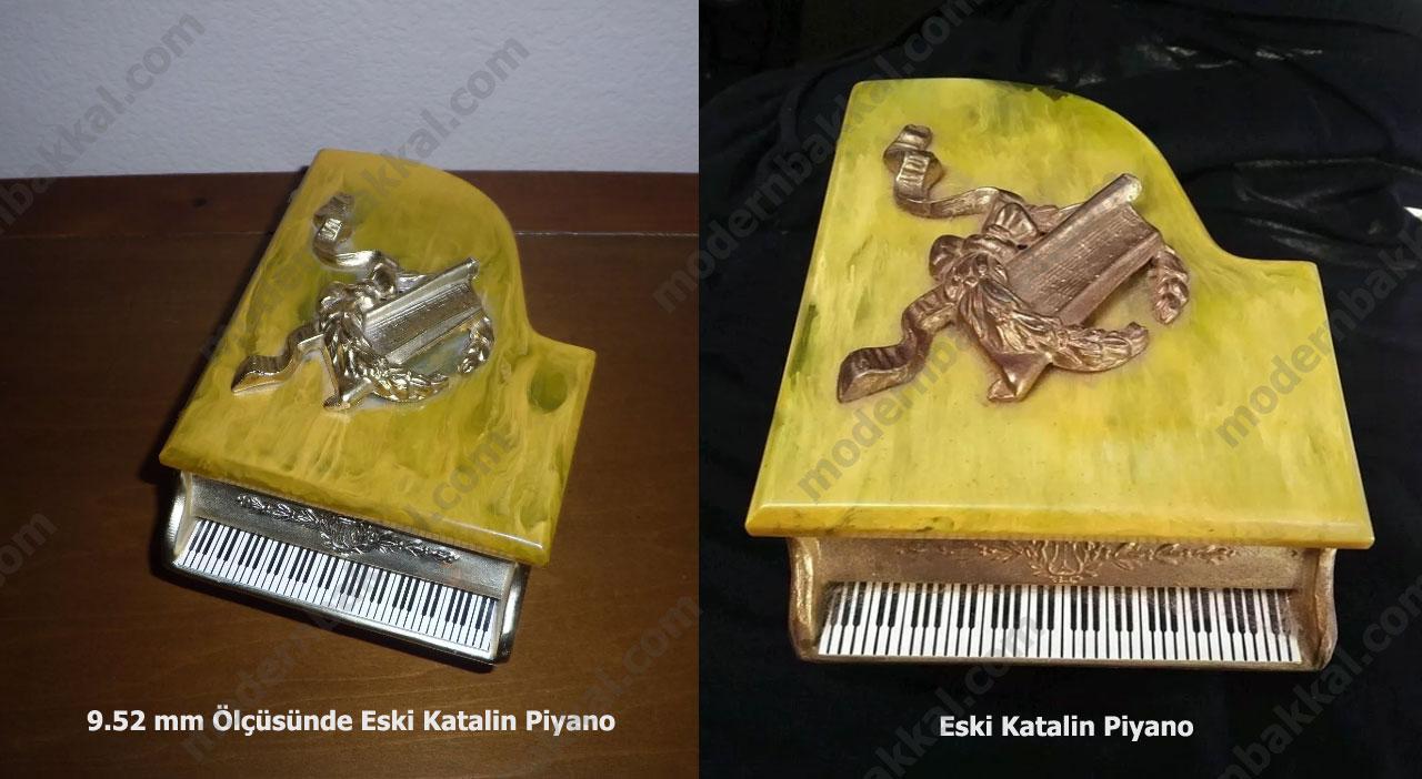 9.52 mm Ölçüsünde Eski Katalin Piyano / 9.52 mm Old Catalin Piano - Eski Katalin Piyano / Old Catalin Piano